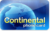 Continental Calling Card